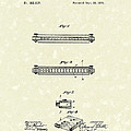Harmonica 1876 Patent Art by Prior Art Design