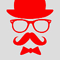 Hats Glasses and Mustache Poster 3 Print by Naxart Studio