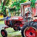 Hawk Hill Apple Tractor Print by Scott Nelson