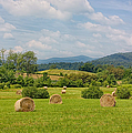 Hay Bales In Farm Field by Kim Hojnacki
