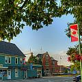 HDR Sussex Broad Street Canadian Flag Print by Jamie Roach