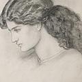 Head Of A Woman by Dante Gabriel Charles Rossetti