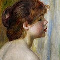 Head Of A Young Woman by Pierre Auguste Renoir