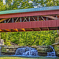 Helmick Mill Or Island Run Covered Bridge  by Jack R Perry