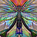 Her Heart Has Wings - Spiritual Art By Sharon Cummings by Sharon Cummings