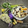 Herbal Medicine And Herbs by Elena Elisseeva