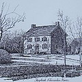 Hezekiah Alexander House Etching by Charles Roy Smith