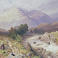 Highland Scene Near Dalmally Argyll by Myles Birket Foster