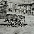 Historic Cabins Cody Wyoming by Lucy Deane