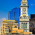 Historic Custom House Clock Tower - Boston Skyline by Mark E Tisdale