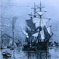 Historic Seaport Blue Schooner by John Stephens