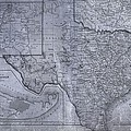 Historic Texas Map by Dan Sproul