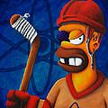 Hockey Homer by Marlon Huynh