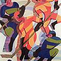 Hockey Players Print by Ernst Ludwig Kirchner