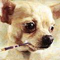 Hollywood Fifi Chika Chihuahua - Painterly by Wingsdomain Art and Photography