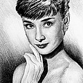 Hollywood Greats Hepburn Print by Andrew Read