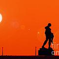 Holocaust Memorial - Sunset by Nishanth Gopinathan