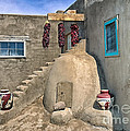 Home On Taos Pueblo by Sandra Bronstein
