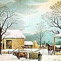 Home To Thanksgiving by Currier and Ives