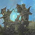 Homestead. Fantasy Cottage Landscape Fairytale Art By Philippe Fernandez  by Philippe Fernandez