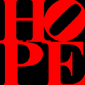Hope 20130710 Red Black by Wingsdomain Art and Photography