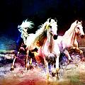 Horse Paintings 002 by Catf