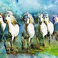 Horse Paintings 005 Print by Catf