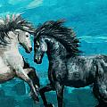 Horse paintings 011 Print by Catf