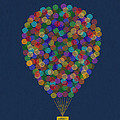 Hot air balloon Print by Aged Pixel