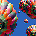 Hot Air Balloon Panoramic Print by Edward Fielding