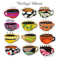 Hot Cuppa Whimsical Colorful Coffee Cup Designs By Romi by Megan Duncanson