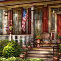 House - Porch - Belvidere Nj - A Classic American Home  by Mike Savad