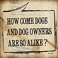 How Come Dogs And Dog Owners Are So Alike by Hiroko Sakai