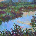 Huckleberry Line Trail Rain Pond by Kendall Kessler
