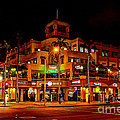 Huntington Beach Downtown Nightside 1 by Jim Carrell