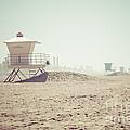 Huntington Beach Lifeguard Tower #1 Retro Photo by Paul Velgos