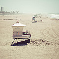 Huntington Beach Lifeguard Tower #1 Vintage Picture by Paul Velgos