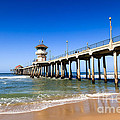 Huntington Beach Pier In Southern California by Paul Velgos