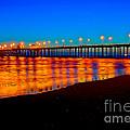 Huntington Beach Pier - Nightside by Jim Carrell