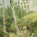 Hut In The Jungle Circa 1816 by Aged Pixel