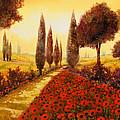 i papaveri in estate Print by Guido Borelli