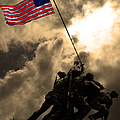 I Pledge Allegiance To The Flag - Iwo Jima 20130211v2 by Wingsdomain Art and Photography