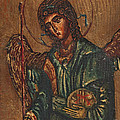 Icon Of Archangel Michael - Painting On The Wood by Nenad Cerovic