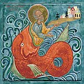 Icon Of Jonah And The Whale by Juliet Venter