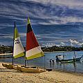 Idyllic Thai Beach Scene by David Smith