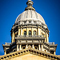 Illinois State Capitol Dome In Springfield Illinois by Paul Velgos