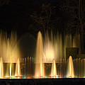 Illuminated Dancing Fountains by Sally Weigand