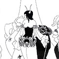 Illustration For The Masque Of The Red Death by Aubrey Beardsley