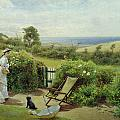 In The Garden by Thomas James Lloyd