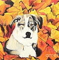 In  the leaves Print by Jeanne Fischer